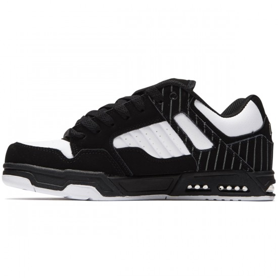 DVS Enduro Heir Shoes - Black/White Pinstripe Nubuck - 8.0
