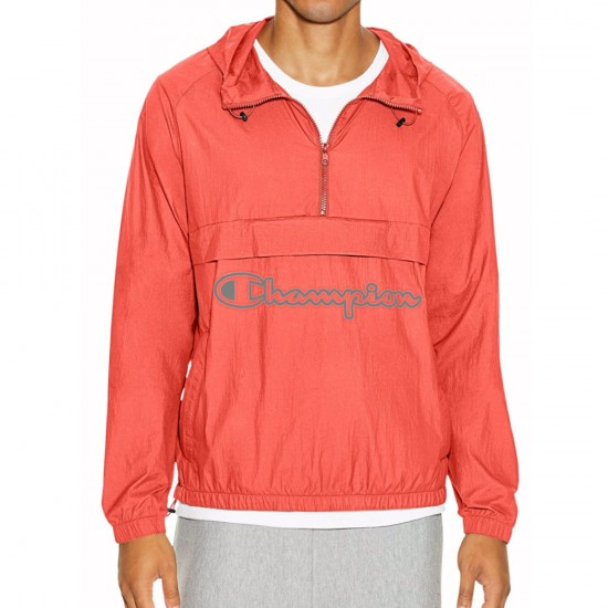 Champion Manorak Jacket - Ripe Papaya Red