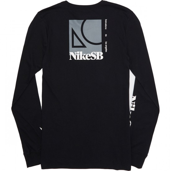 Nike SB Dry Long Sleeve T-Shirt - Black/White