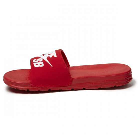 Nike SB Benassi Solarsoft Slide Sandal - Red/White - 7.0