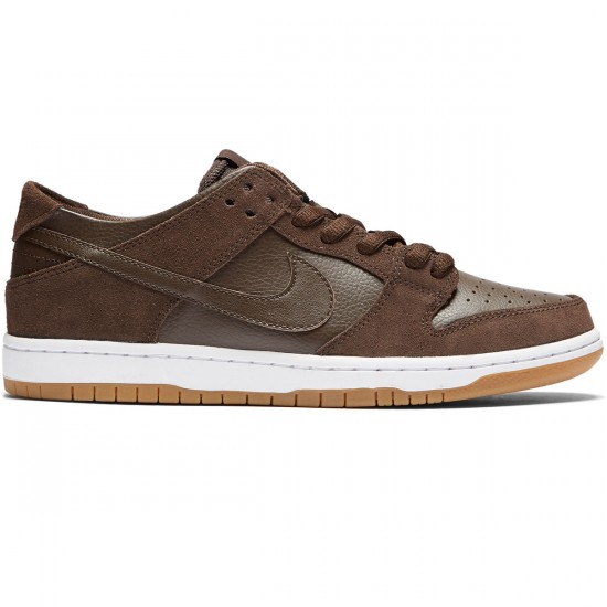 Nike SB Dunk Low Pro Shoes - Baroque Brown/Brown/White - 7.0
