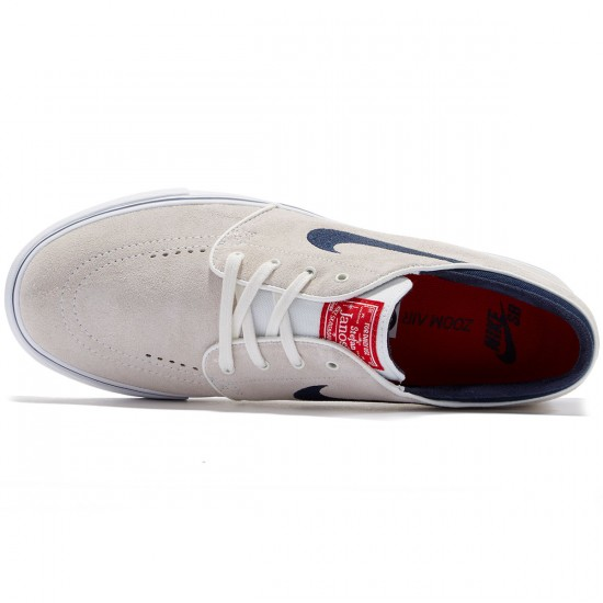 Nike Zoom Stefan Janoski Shoes - White/Red/White/Obsidian - 7.5