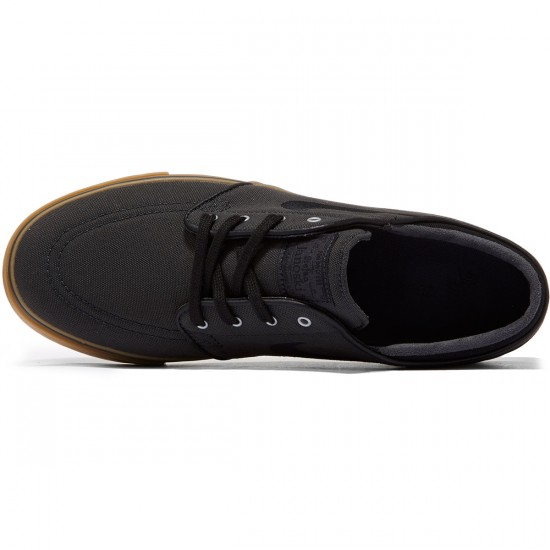 Nike Zoom Stefan Janoski Canvas Shoes - Anthracite/Gum/Silver - 8.5