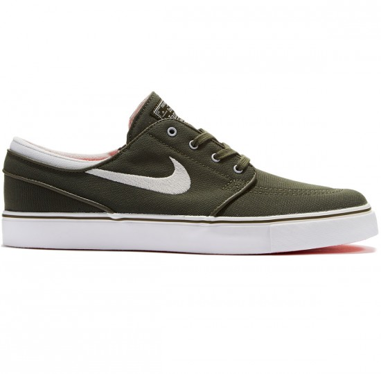 Nike Zoom Stefan Janoski Canvas Shoes - Cargo Khaki/White/Bone - 8.5
