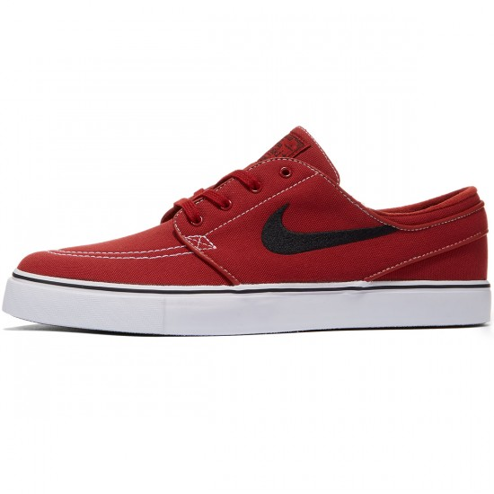 Nike Zoom Stefan Janoski Canvas Shoes - Dark Cayenne/Gum/White - 7.0