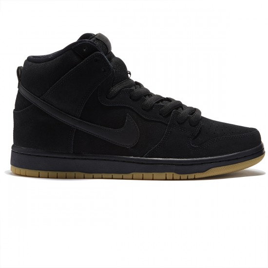 Nike Dunk High Pro SB Shoes - Black/Gum/Brown/Black - 7.0