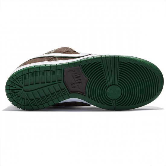 Nike Dunk Low Premium SB Shoes - Khaki/Pine Green/Brown/White - 8.0