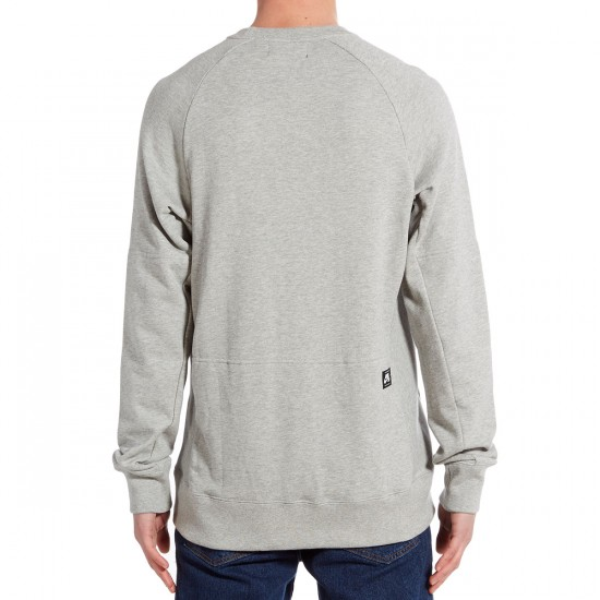 Nike SB Everett Crew Sweatshirt - Dark Grey Heather/White