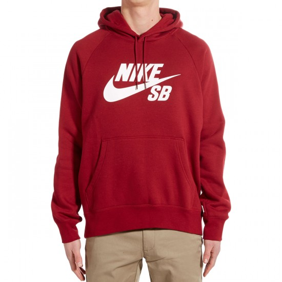 Nike SB Icon Pullover Hoodie - Red/White