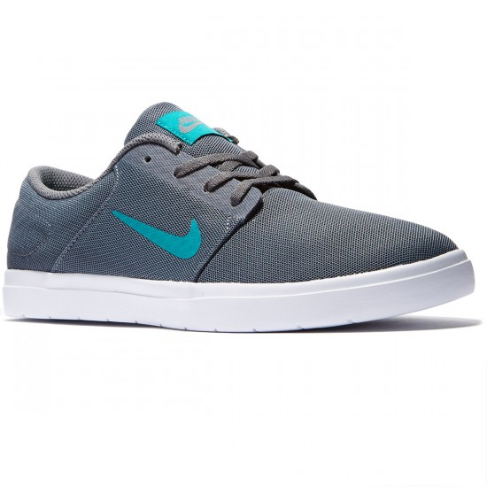 Nike SB Portmore Ultralight Shoes - Dark Grey/Rio Teal - 9.0