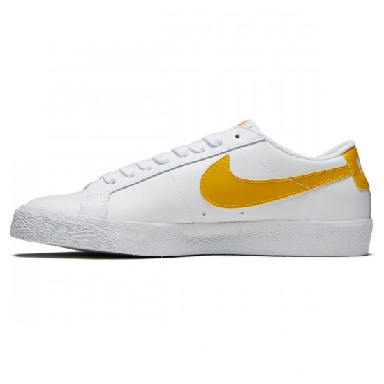 Nike SB Air Zoom Blazer Low Shoes - White/Mineral Gold - 6.0