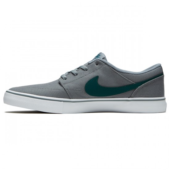 Nike SB Solarsoft Portmore II Shoes - Cool Grey/Dark Atomic Teal/White