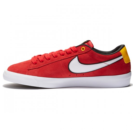 Nike Blazer Low GT Shoes - Red/Black/Gold/White - 9.0