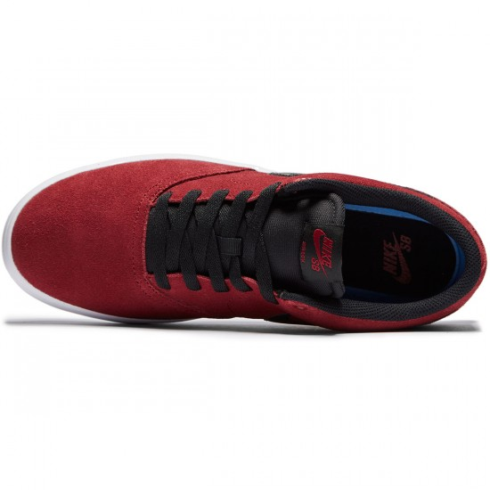 Nike SB Check Solarsoft Shoes - Team Red/Black - 7.0
