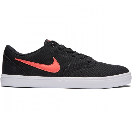 Nike SB Check Solarsoft Shoes - Black/Ember Glow/White - 9.0