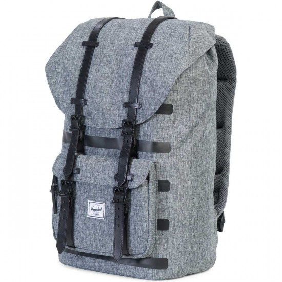 Herschel Little America Backpack - Polyoffset Raven Crosshatch