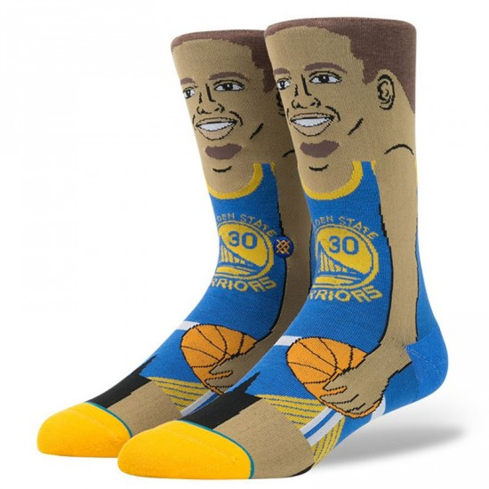 Stance S. Curry Socks - Blue