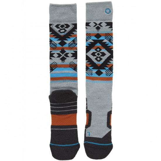 Stance Granite Chief Snowboard Socks - Grey Heather