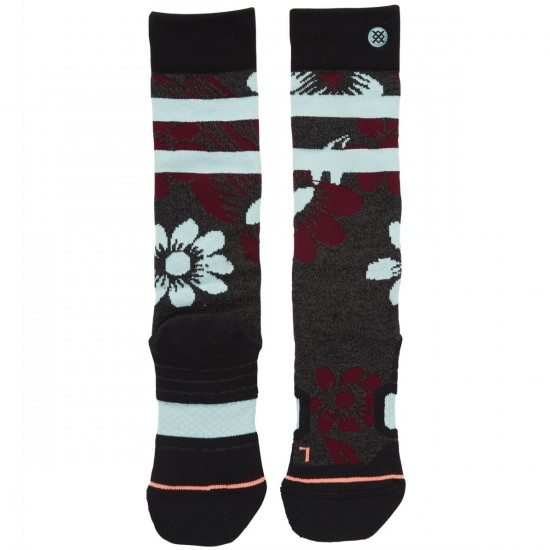 Stance Dew Drop Womens Snowboard Socks - Black