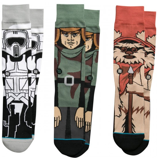 Stance X Star Wars Return Of The Jedi 3 Pack Socks - Black