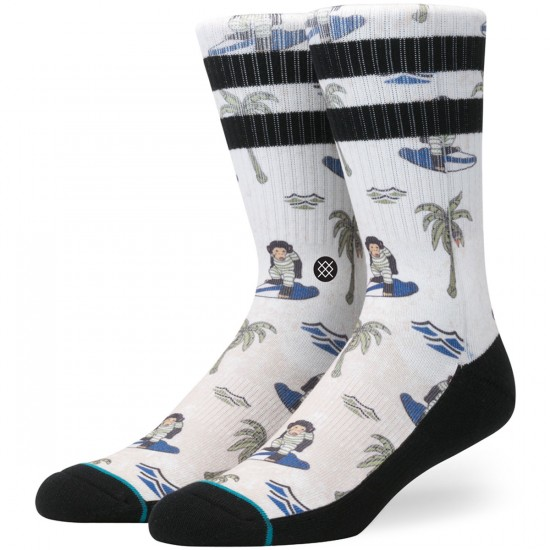 Stance Surfin' Monkey Socks - Tan