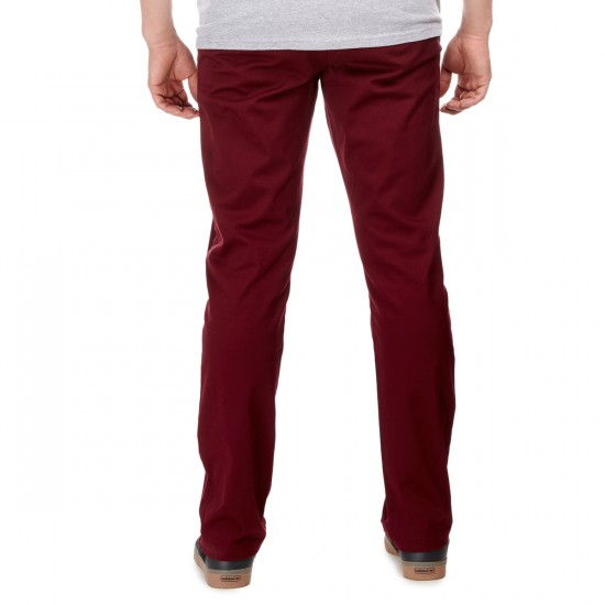 RVCA The Week-End Stretch Pants - Tawny Port - 30 - 32
