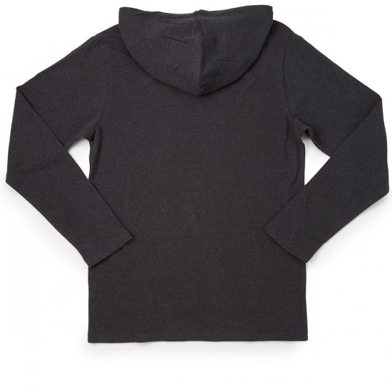 RVCA Pick 2 Pullover Hooded T-Shirt - Charcoal Heather