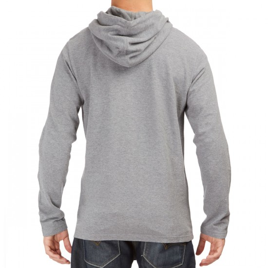 RVCA Pick 2 Pullover Hooded T-Shirt - Grey Noise