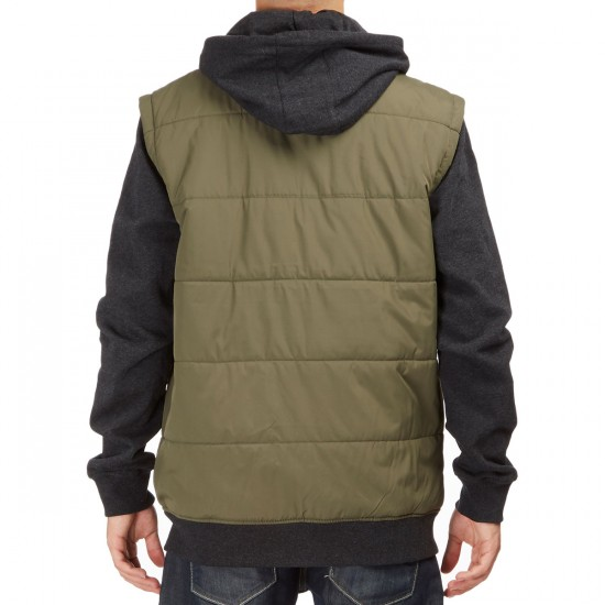 RVCA Puffer Zip Jacket - Leaf