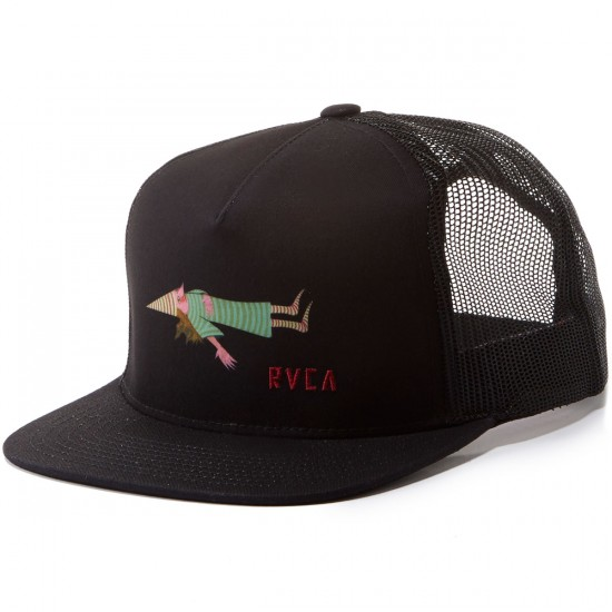 RVCA Templeton Trucker Hat - Pirate Black