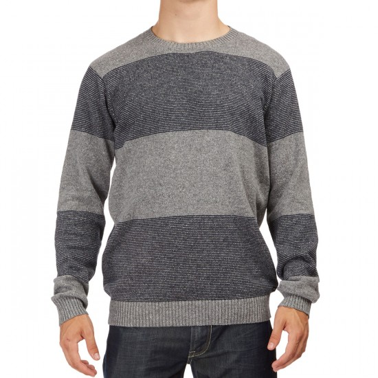 RVCA Channels Crew Sweater - Grey Noise
