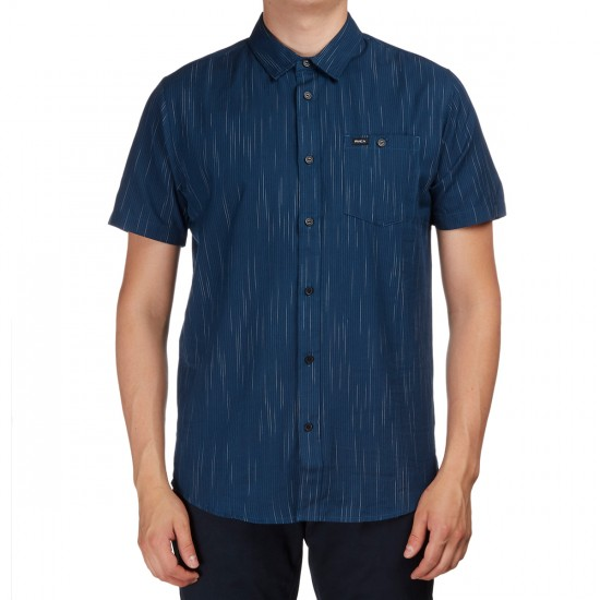RVCA Descent Short Sleeve Shirt - Dark Denim