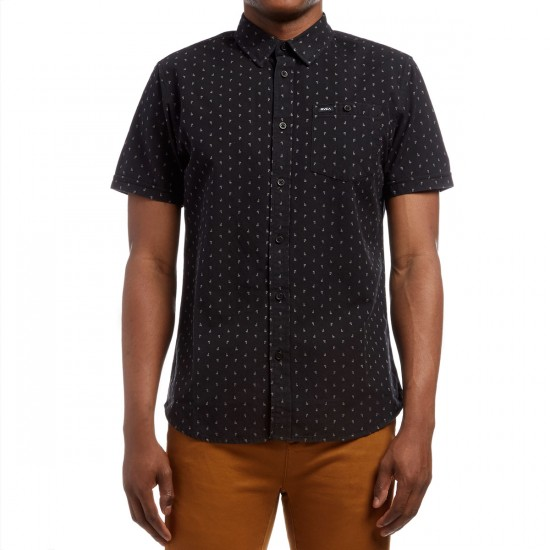 RVCA Toned Short Sleeve Shirt - Black