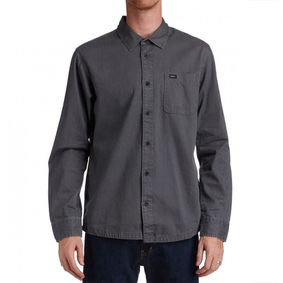 RVCA Service Long Sleeve Shirt - Smoke