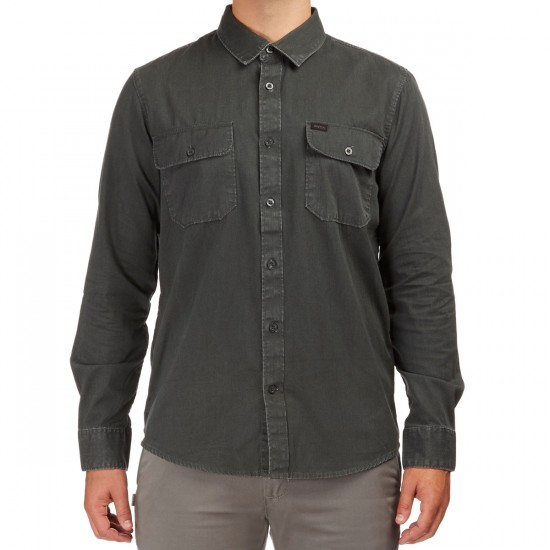 RVCA That'll Do Twist Long Sleeve Shirt - Tawny Port