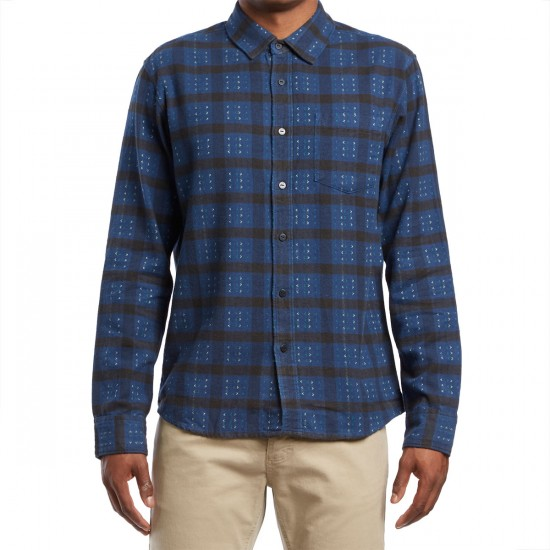 RVCA Torched Long Sleeve Shirt - Dark Denim