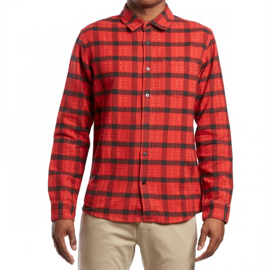 RVCA Torched Long Sleeve Shirt - Pompei Red