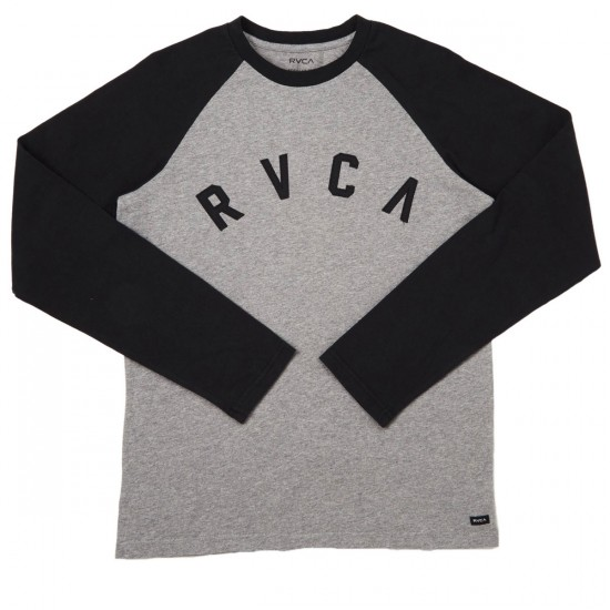RVCA Shortstop Raglan Long Sleeve T-Shirt - Athletic Heather