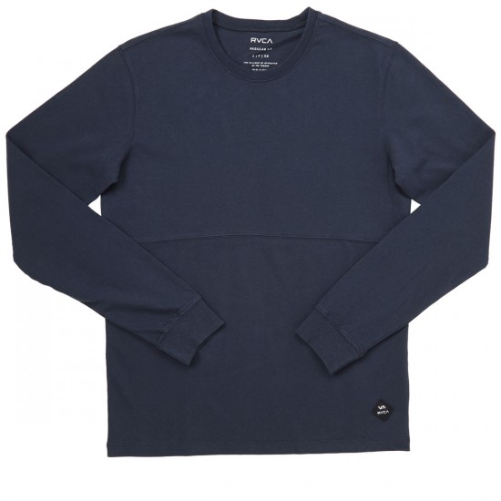 RVCA Links Crew Long Sleeve T-Shirt - Carbon