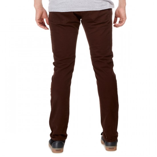 RVCA Daggers Twill Pants - Dark Chocolate - 30 - 32
