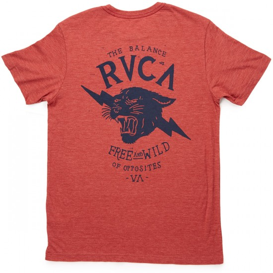 RVCA Free And Wild T-Shirt - Brick Red