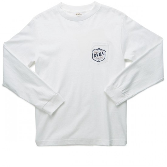 RVCA Rope Shield Long Sleeve T-Shirt - White