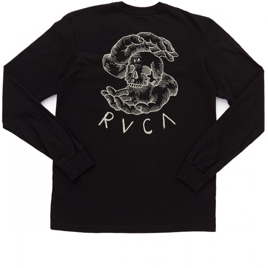 RVCA Skull Teller Long Sleeve T-Shirt - Black