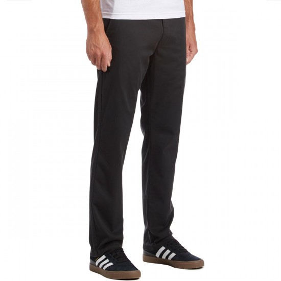 RVCA The Week-End Stretch Pants - Pirate Black - 30 - 32