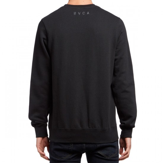 RVCA Skull Embroidered Sweatshirt - Black
