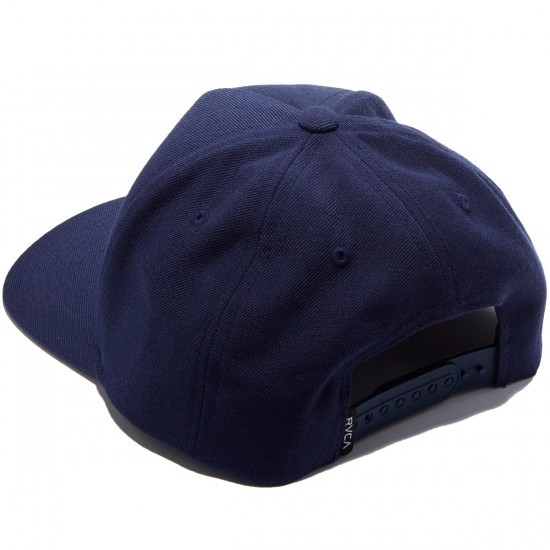 RVCA Curved Bill 5 Panel Snapback Hat - Navy