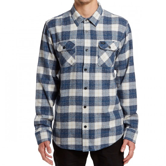 RVCA Lowland Long Sleeve Shirt - Silver Bleach