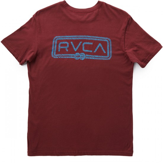 RVCA Double Rope RVCA T-Shirt - Tawny Port/Blue
