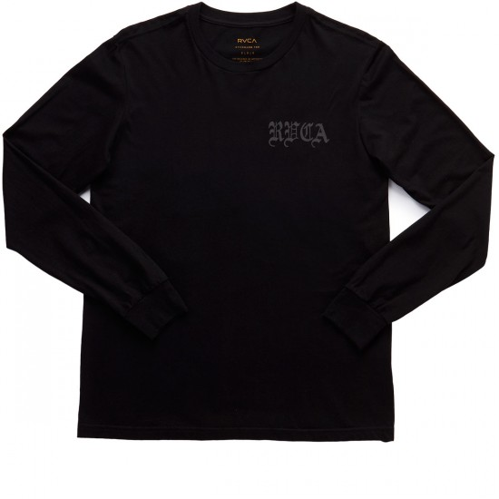 RVCA Bert Phoenix Long Sleeve T-Shirt - Black