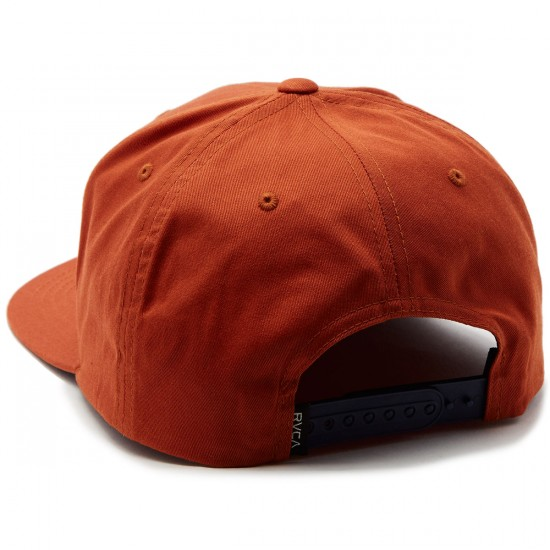 RVCA VA Snapback II Hat - Dark Orange